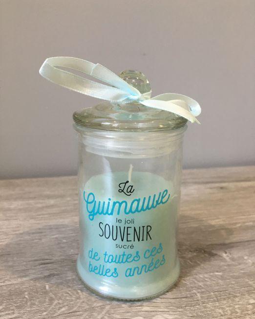 BOUGIE PARFUMEE BONBONNIERE H11.5 BLEU