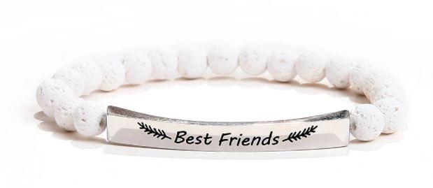 BRACELET POSITIF BEST FRIENDS LAVE BLANCHE