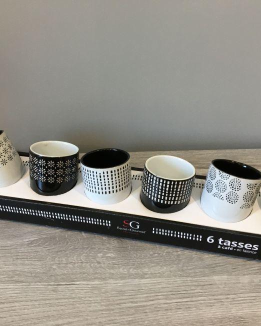 COFFRET 6 TASSES ETHNIK 12CL
